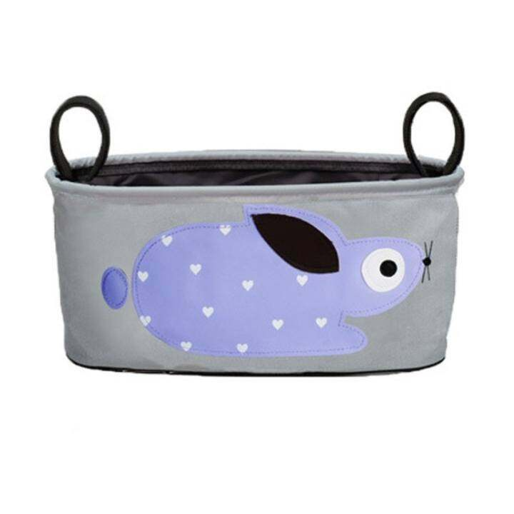 Baby Toddler Stroller Organizer Buggy Hanging Bag holds Beverage water Diaper cell phone Toys Baby formula Storage Stroller Accessory (Purple/gray)