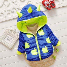 SoonYip Baby Winter Cotton Coat Baby Girl CartoonThick Down Boy Outerwear Snow Wear Fabric Handle Infant