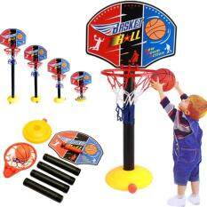 Bag.society - Portable Adjustable Kids Toddler Basketball Toy Set Stand Game For Unisex By Bag.society.