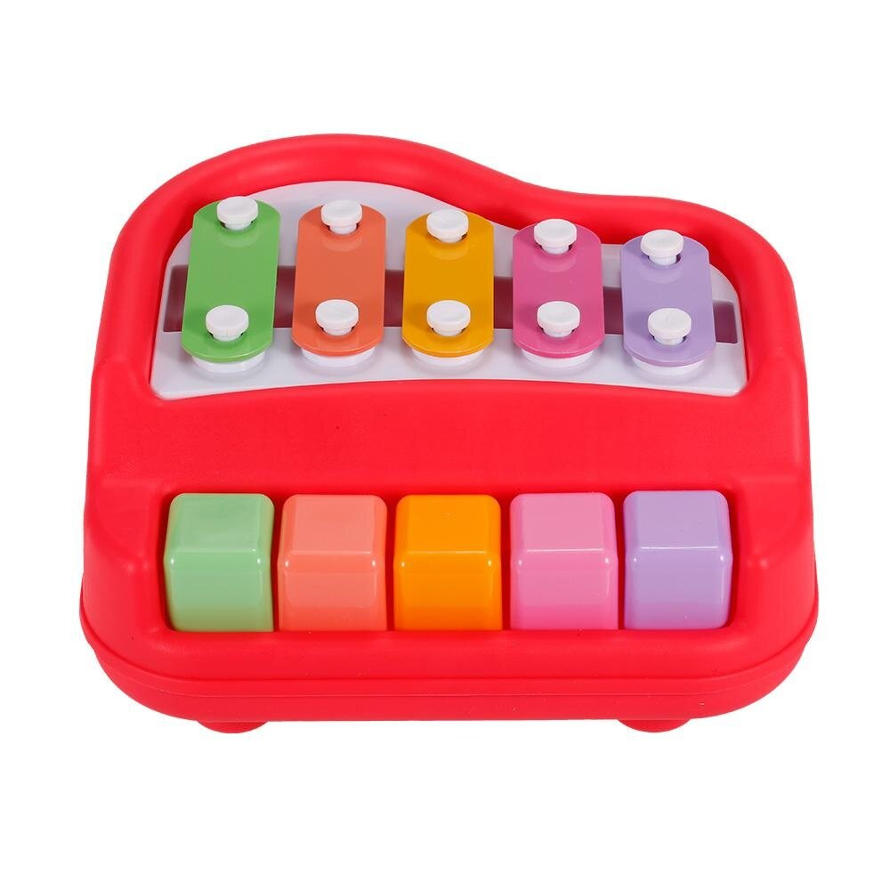 Baoli 2 Dalam 1 Mini Piano dan Xylophone Alat Musik Mainan Hadiah untuk Anak-anak-Internasional