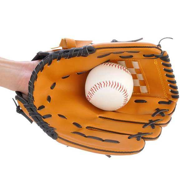 Baseball Training Practice Gloves Left Hand Pvc Artificial 12.5 Unisex Pitcher Baseball Leather Glove Softball By Howucck.