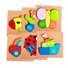 Veecome (bear)toddler Kid Educational Wooden Board Block Animal Shape 3d Jigsaw Puzzle Toys For Children By Veecome.