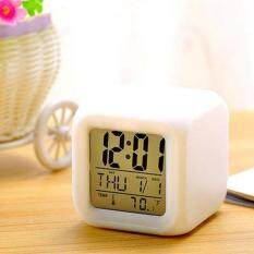 Bedroom Kids 7 Color Led Change Lcd Digital Alarm Thermometer Night Glowing By Moyaa.