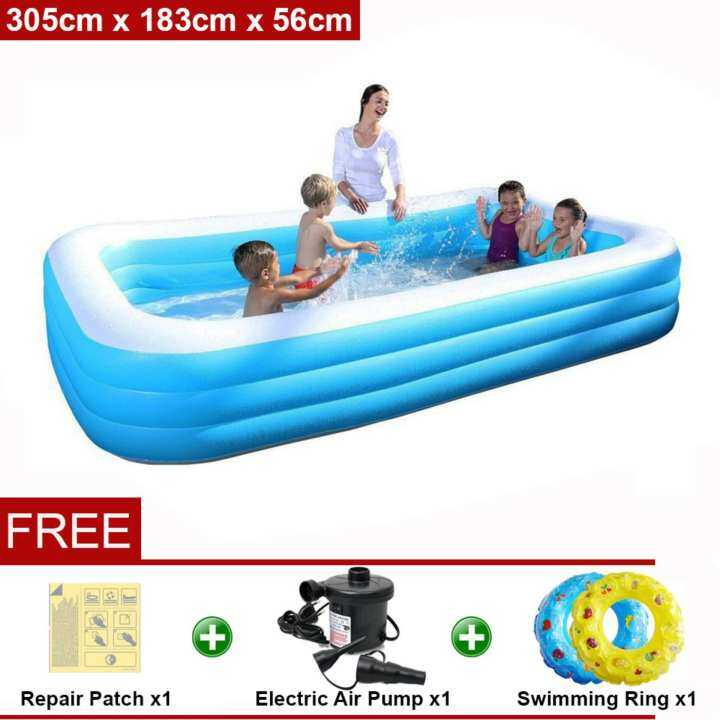 Bestway Meter 54009 Extra Large Inflatable Family Swimming Pools 3 Layers Np170 Premium