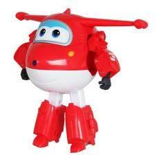 Besar 15 Cm ABS Sayap Super Deformasi Robot Pesawat Terbang Transformasi Tokoh Aksi Mainan untuk Anak