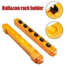 Billiard Pool Wall Mount Hanging 6 Cue Sticks Wood Rack Holder for Snooker New