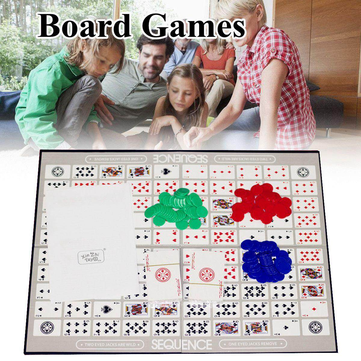 Best Price Board Games Challenge Sequence Strategy Card For 2 12 Players Family Fun Game Intl