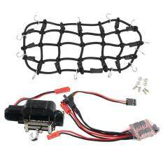 BolehDeals 1/10 RC DWN Warn 9.5cti Winch w/ Controller Luggage Net Rubber for RC4WD D90