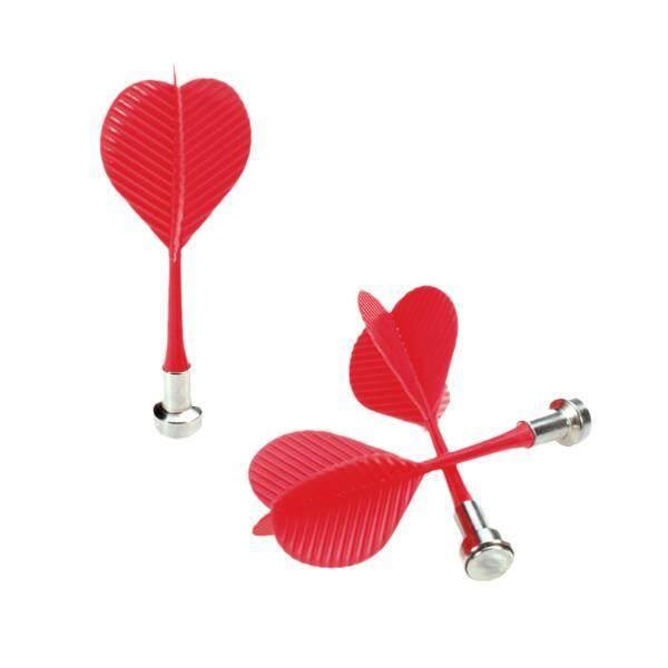 Beli sekarang BolehDeals 3Pcs Bullseye Target Game Red Plastic Magnetic Darts - Intl terbaik murah - Hanya Rp36.440