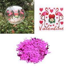 BolehDeals Flamingo Confetti Vinyl Stickers Bobo Balloon Sets Balloon DIY Accessories