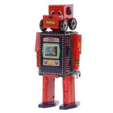 Bolehdeals Retro Wind Up Clockwork Mechanical Walking Tin Search & Rescue Robot Toy By Bolehdeals.