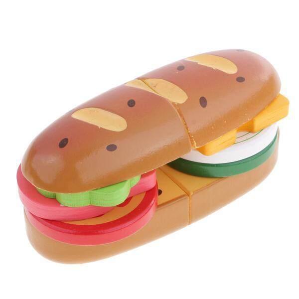 BolehDeals Wooden Kitchen Bread Food Pretend Reusable Role Play Cooking Set kids Toy
