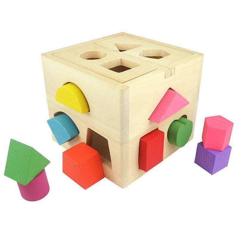 Boys Girls Learning Educational Toys Wooden Building Block Toddler Toys
