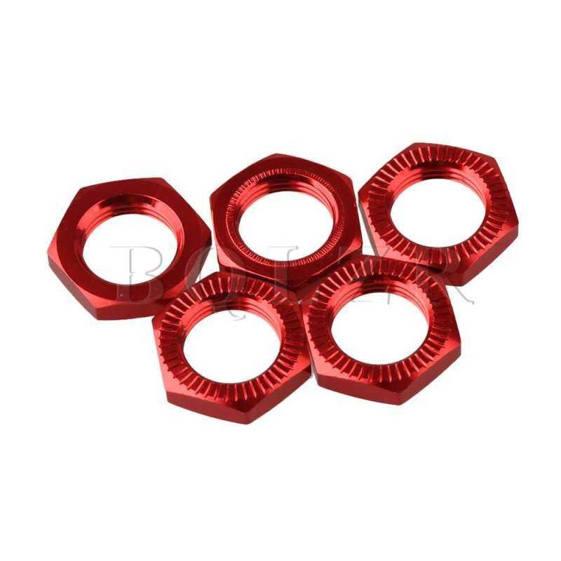 Kmdshxns Bqlzr 4 Pcs RC Lain 1:8 Model Mobil Merah Partisi Aluminium Roda 17
