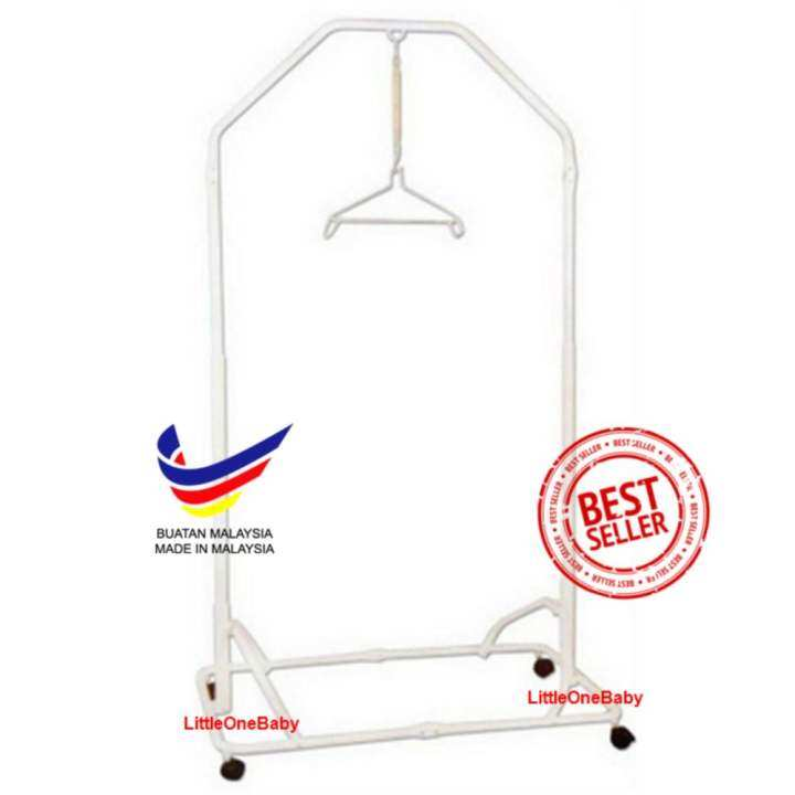Buai Baby Local Premium Baby Safety Spring Cot Stand(Epoxy)Side Steel Bar Support -White