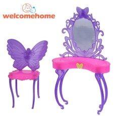 Kupu-kupu Ganti Meja Rias Furnitur untuk Barbie Doll (Acak Warna)-Intl