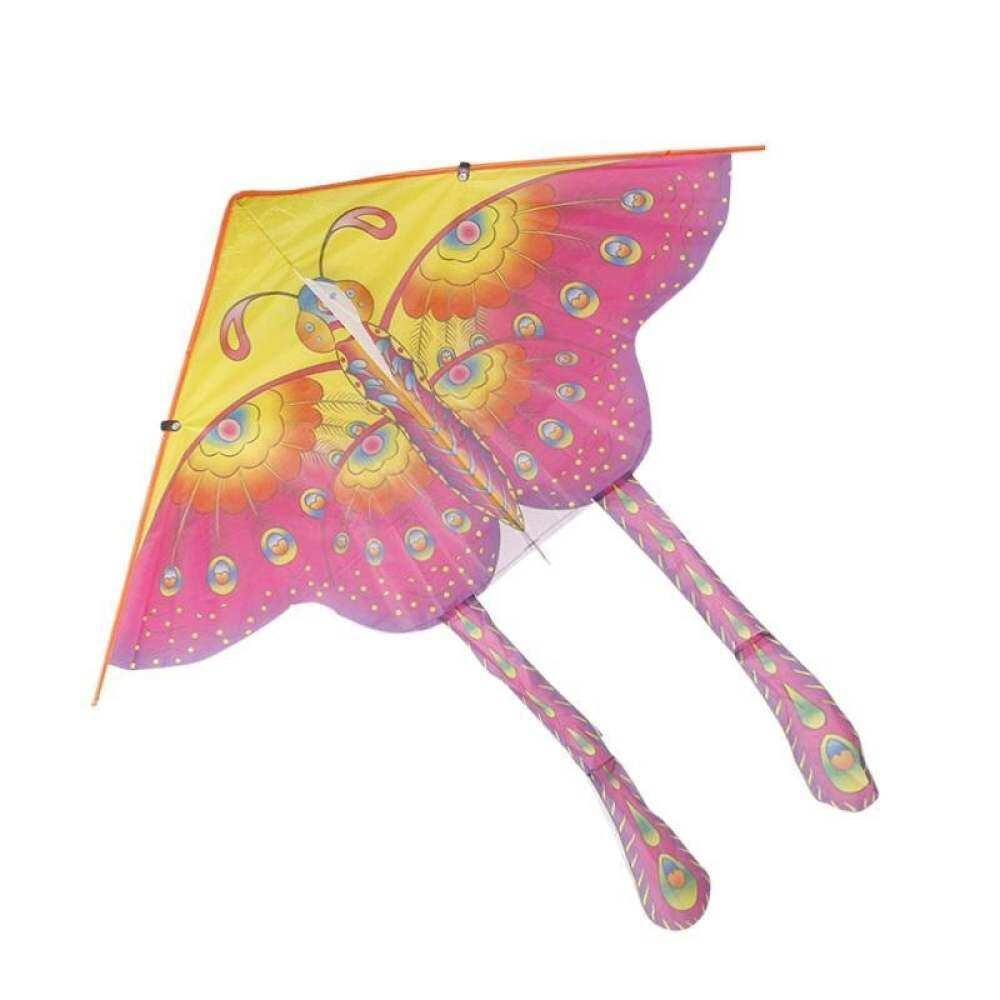 BUYINCOINS 90cm Beautiful Colorful Traditional Without Butterfly Kite Chinese String