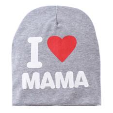 Topi Anak Rajutan Balita Aku Cinta Ayah Mama Grey Aku Cinta Mama