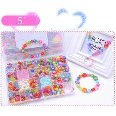 Candy Colors Diy Wear Beads For Bracelet Kids Toys Geometric Shape Personalized Jigsaw Puzzle(multicolor)(available) By Super Babyyy.