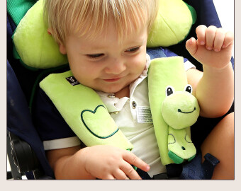 Cartoon Animal Infant Baby Soft Harness Car Seat Belt Strap Cover Pads Universal Reversible Covers Kids