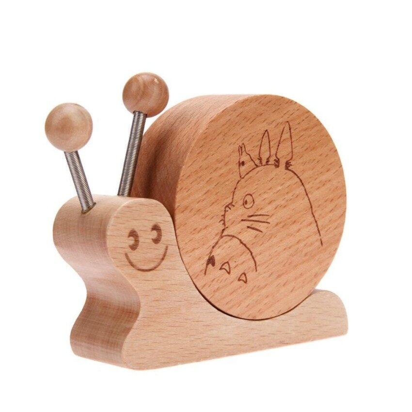 Kartun Berputar Kayu Snail Bentuk Hadiah Natal Kotak Musik-Internasional