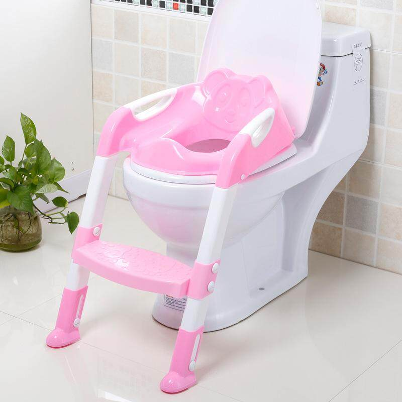 Cheapest Children Baby Potty Seat With Ladder Toilet Chair P** Training Potties Seat Intl Online
