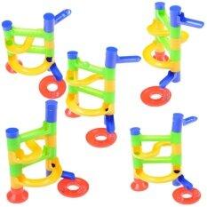 Hình ảnh Children Educational Toys Diy Construction Marble Race Run Maze Balls Toy - intl