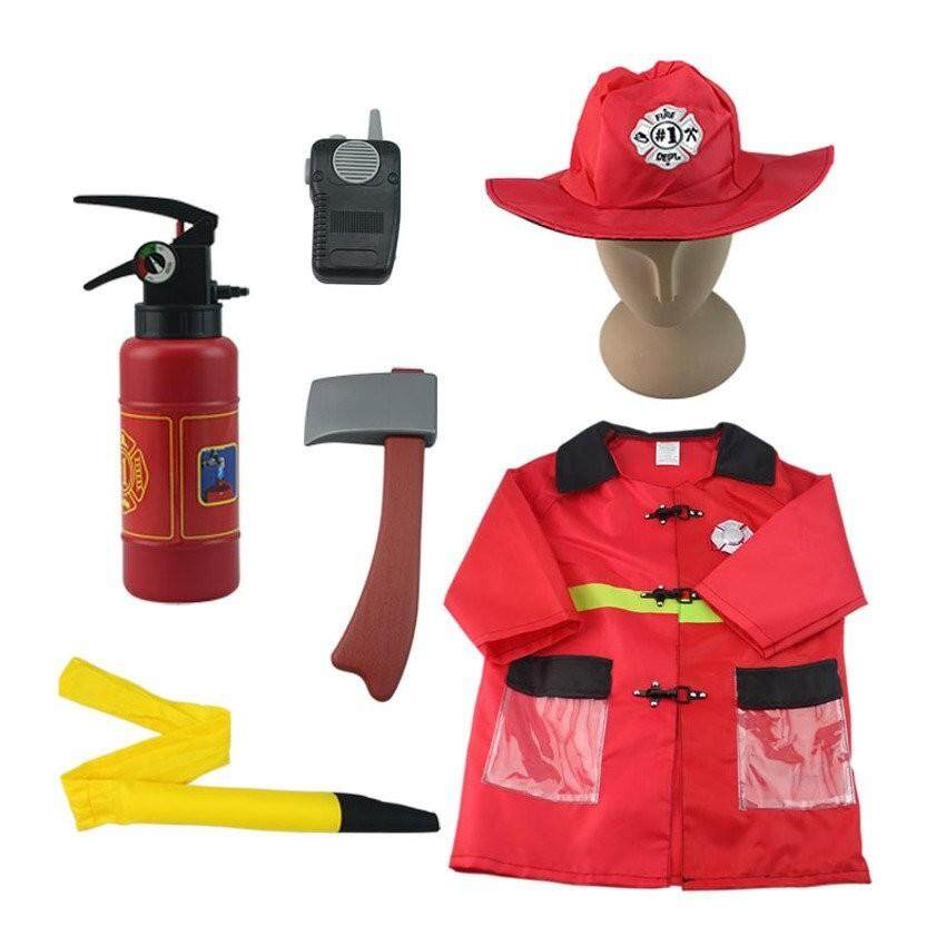 Sale Children Fireman Costumes For Halloween Party Kids Cosplayfireprotection People Cos Clothing Suit For Boys 3 7 Years Old Intl China Cheap