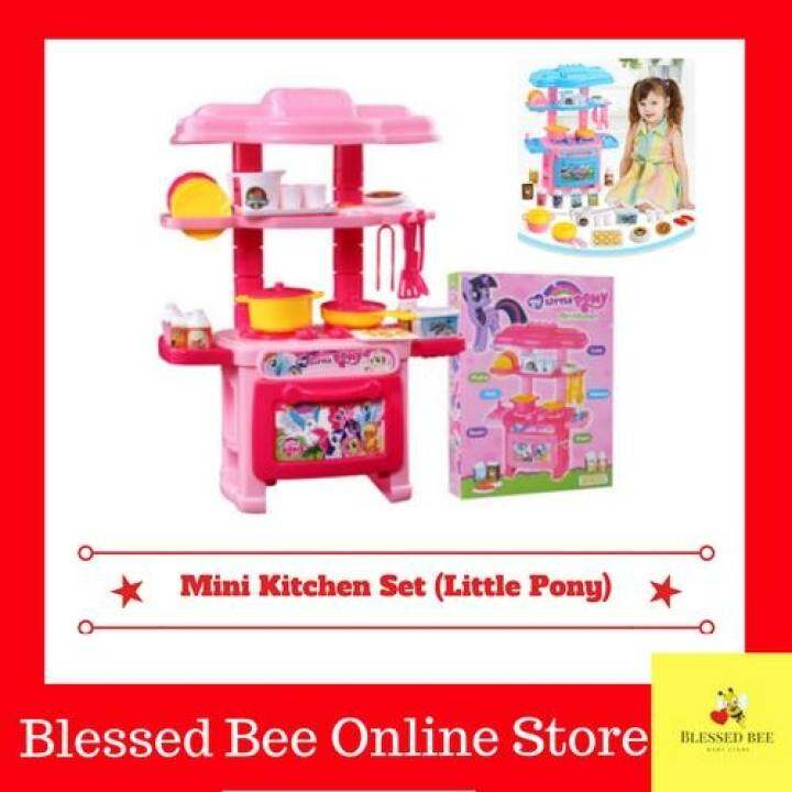 Kitchen Set Lazada: Children Portable Kitchen Toy Play Set Playset Little Pony