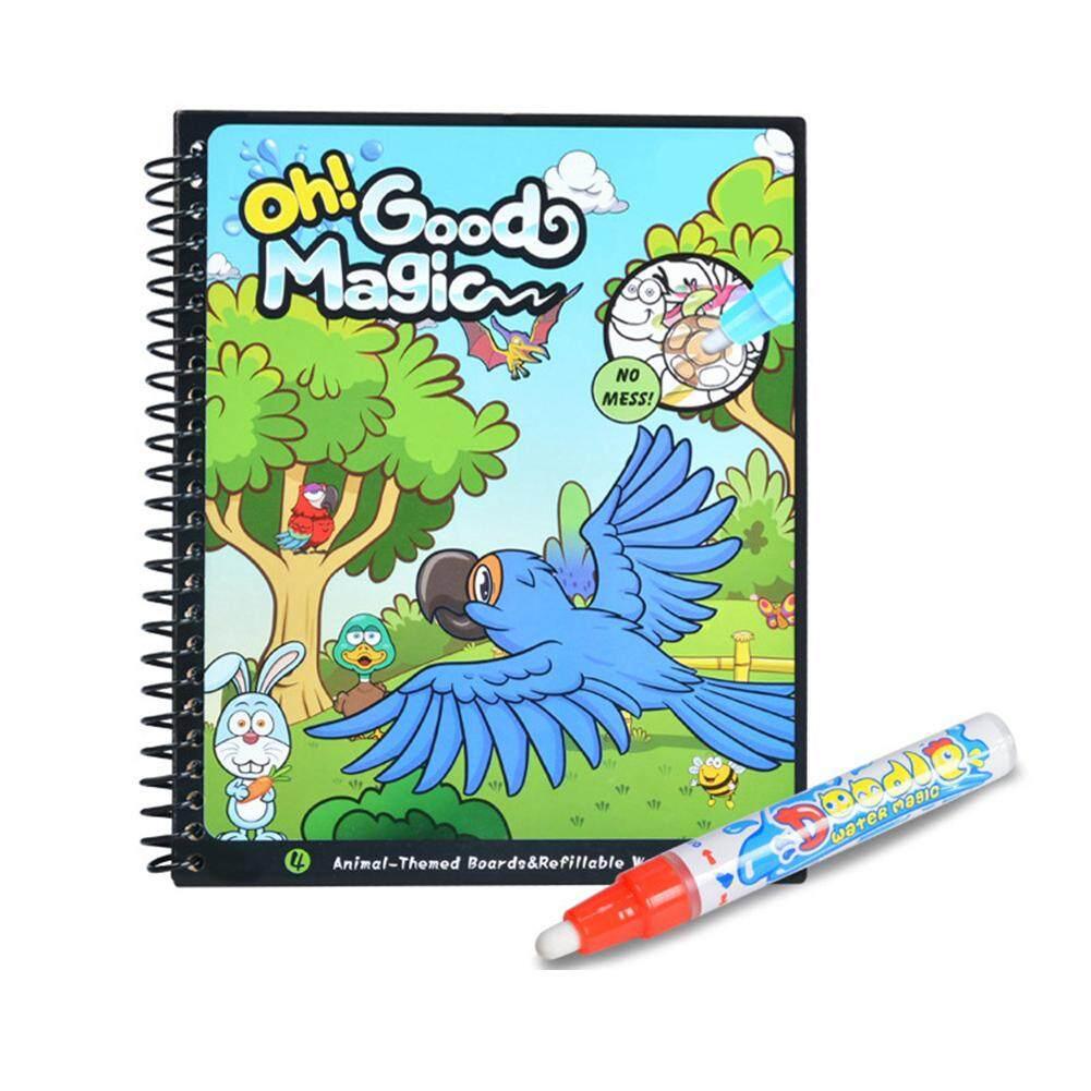Anak Air Buku Mewarnai Set Sikat Buku Gambar Hadiah untuk Anak-anak Gaya: Hewan
