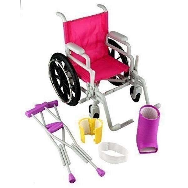 Klik N Permainan Boneka Kursi Roda atau Kaus Set, Sempurna untuk 18 Inch Amerika Perempuan Boneka-Internasional