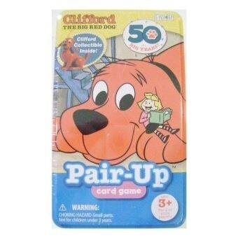 Clifford The Big Red Dog Pair-up Card Game dengan CollectibleCliffordFigurine Termasuk Oleh Patch Oleh Produk Patch. Inc.-Intl