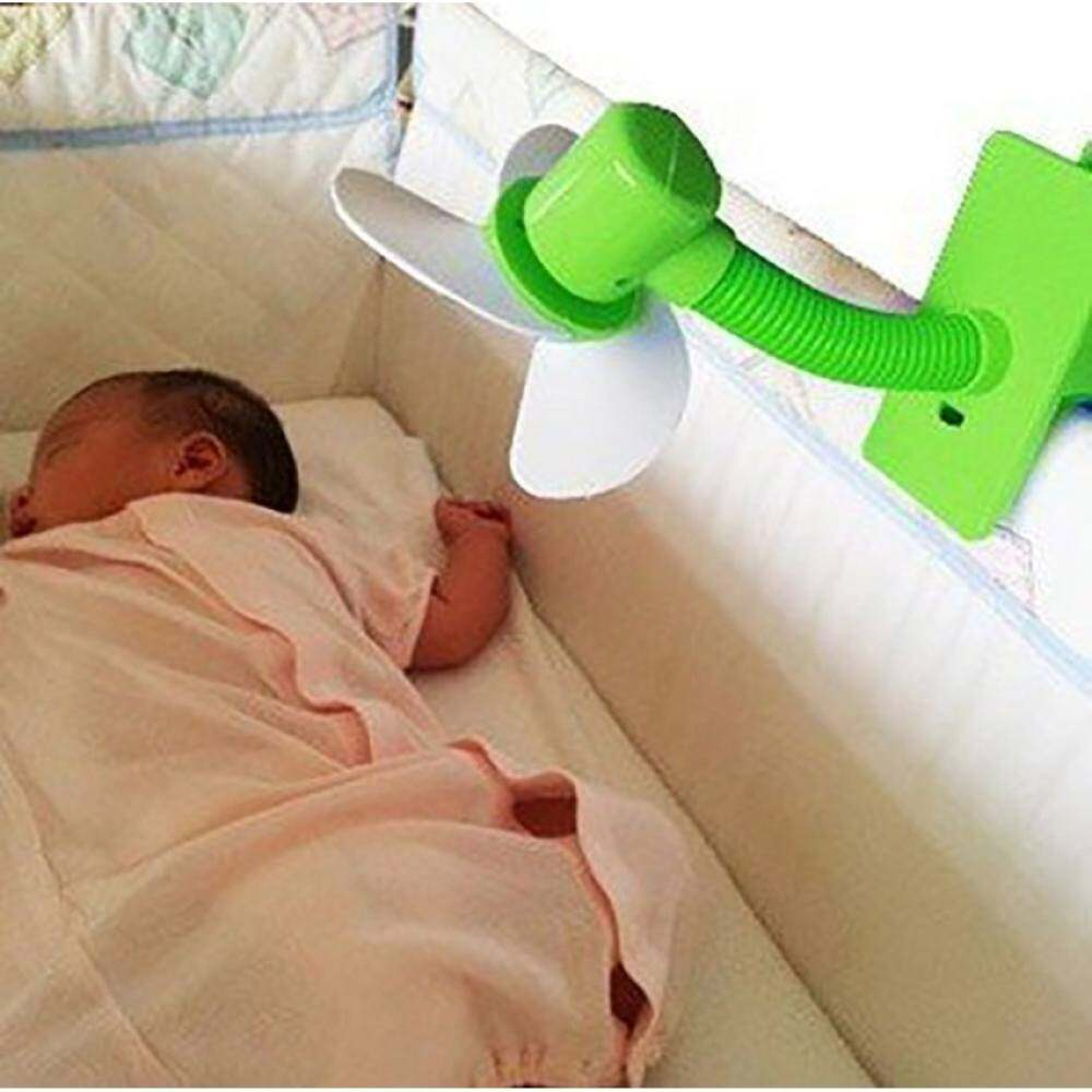 【Quickly Delivery】【BABY store】New Arrival Clip-on with USB Mini Stroller Fan for Baby Cots Playpens (Blue) Singapore