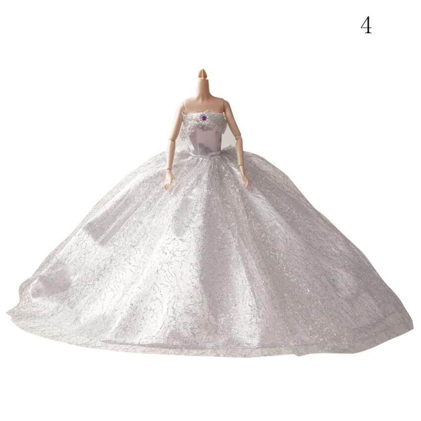 Cocotina Boneka Barbie Barbie Pakaian Pernikahan Emas Berkilau Putri Pernikahan Tinggi-Akhir-Internasional