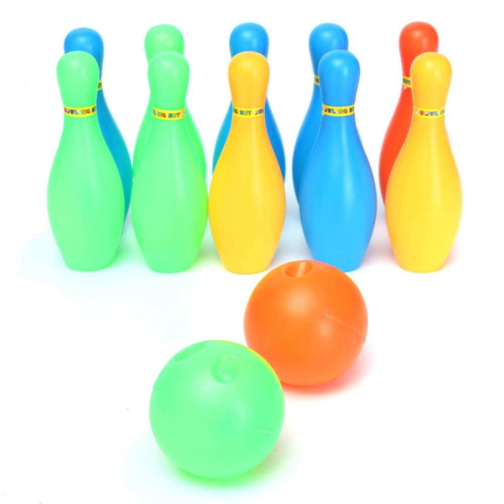 พลาสติกที่มีสีสัน 10 Pins โบว์ลิ่งเกมของเล่น + เด็กเด็กชุดของขวัญลูกสนุก 2 By Ifppbfrvj.