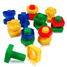 Colorful Screw Nuts Matching Toy Educational Puzzle Baby Gifts By A-Liname.