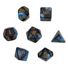 Epayst Colorful Table Rpg Games Dice Set Irregular Shape Polyhedral Dices (blue&black) By Epayst.