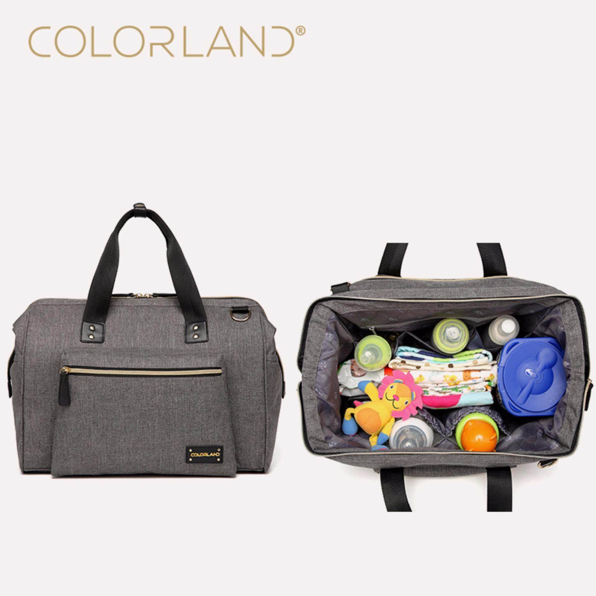 927b10a4a Colorland 40*17*27cm Diapers Bag Fashion Mummy Maternity Nappy Bag Brand  Baby Travel