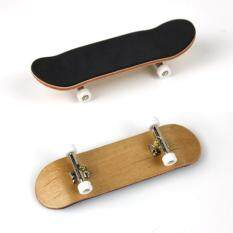 Complete Wooden Fingerboard Finger Skate Board Grit Box Foam Tape Maple Wood White.
