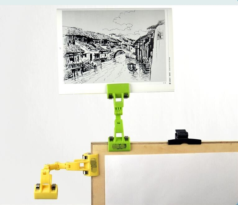 Hình ảnh Copy Painting Clip Double Head Clamp for Artist Easels, Drawing Boards Picture Clip Sketch Sketch Clip - intl