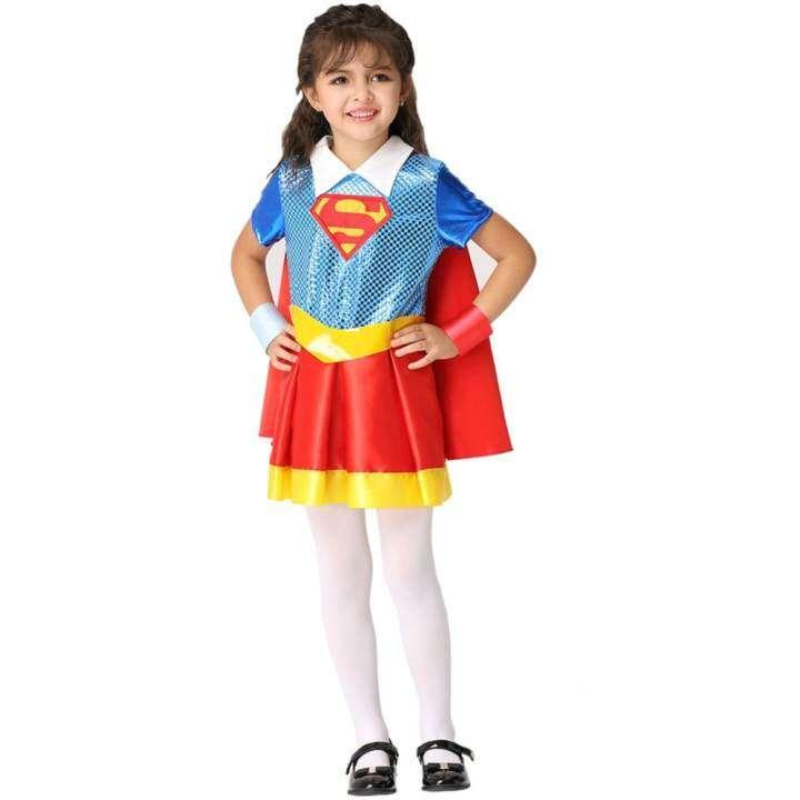 Costume Kids DC Superhero Girls Deluxe Supergirl Costume Size M