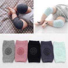 Crcbaby Two (2)pair Baby Safety Knee Pad Kids Socks Child Short Knee Pad Knee Guard By Crc Mall.