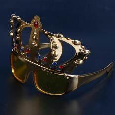 แว่นตากันแดดมงกุฎ Glitter ฮาโลวีน Queen Princess Party Gold Silver Gold.
