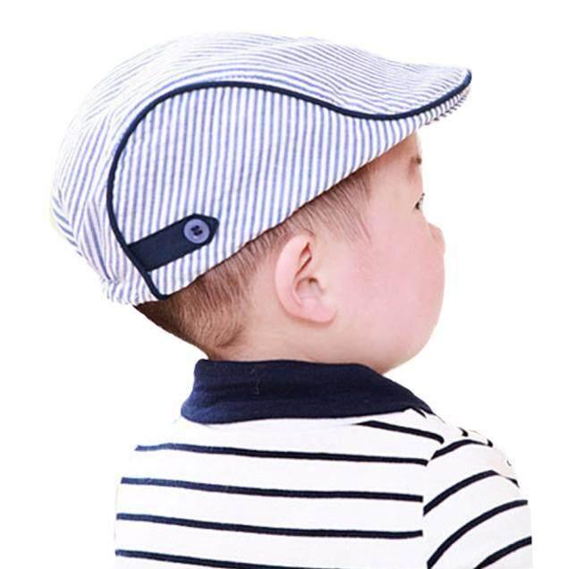 0a66eeca59ff Harga yang baik Cute Baby Infant Boy Girl Stripe Beret Cap Peaked Baseball  Hat BU kajian semula - Hanya RM11