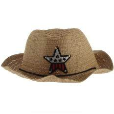 Cute Baby Kids Children Boys Girls Straw Western Cowboy Sun Hat Cap Gift 5b19d9a56a82