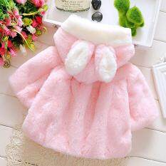 3c1cd8a0fcc8 Cute Fluffy Thick Faux Fur Baby Infant Girl Winter Warm Hooded Cape Cloak  Hoodie Coat Jacket