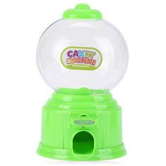 ซื้อที่ไหน Cute Mini Candy Gumball Dispenser Kids Toy Vending Machine Saving Coin Bank (Green