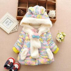 Cute Rabbit Baby Girl Winter Warm Coat Cloak Jacket Thick Clothes Jacket Kids Clothes Camouflage By Fuloophi.