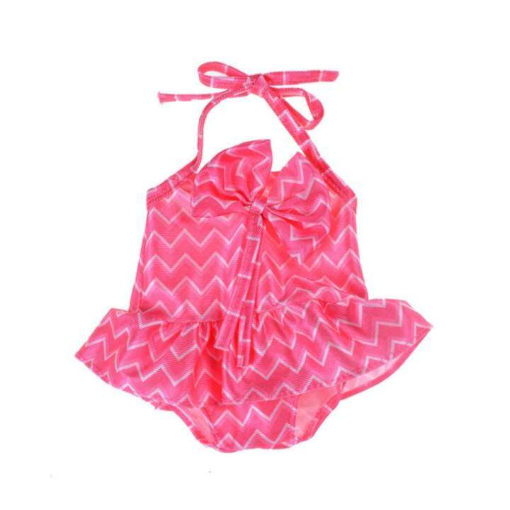 Cute Rose Red Lacing Swimsuit Bowknot for 18'' American Girl Journey Dolls Gift