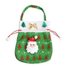 Cute Santa Claus Snowman Christmas Gift Bag Candy Bag Wrap Drawstring Sack By Bsex.